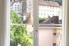 Fensterblick Hof